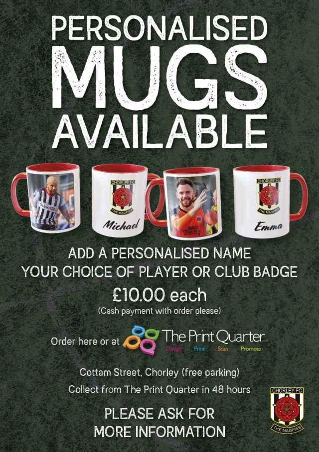 Personalised mugs now available