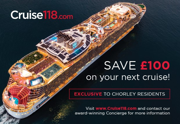 Calling all Chorley residents – £100 off your cruise holiday!